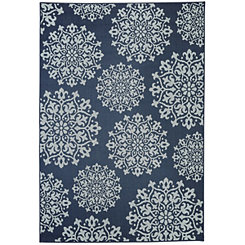Navy Sanibel Area Rug, 5x8