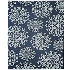Navy Sanibel Area Rug, 8x10