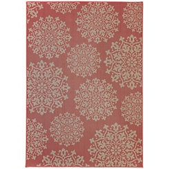 Red Sanibel Medallion Area Rug, 5x8