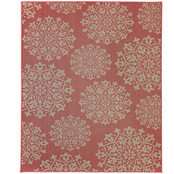 Coral Sanibel Area Rug, 8x10