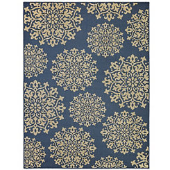 Blue Sanibel Area Rug, 8x10