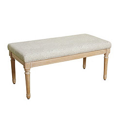 Cream Olivia Accent Bench