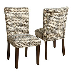 Modern Labyrinth Parsons Chairs, Set of 2