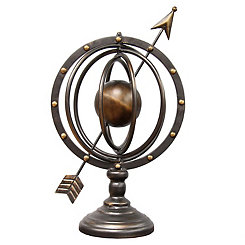 Globe and Arrow Finial
