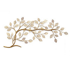 Gold Tree Branch Metal Wall Plaque