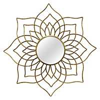Gold Andrea Flower Wall Mirror