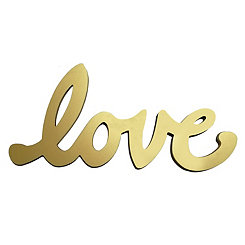 Love Script Word Art Plaque