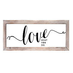 Love Glass Wall Plaque