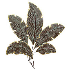 Decorative Palms Wall Plaque