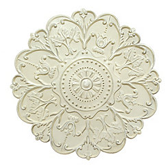 Shabby White Medallion Wall Plaque