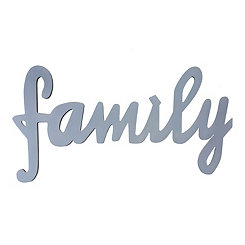 Family Script Word Art Plaque