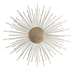 Gold Burst Wall Plaque