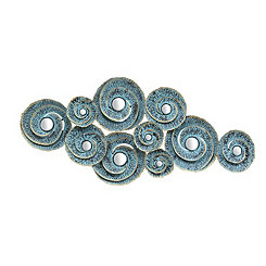 Decorative Waves Metal Wall Plaque
