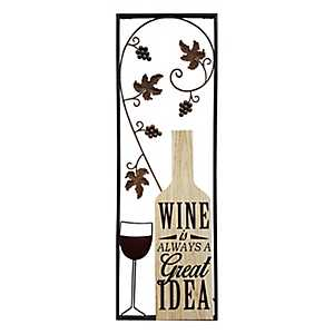Wine is a Great Idea Wall Plaque