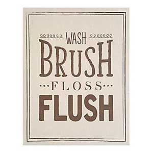 Wash Brush Floss Flush Linen Plaque
