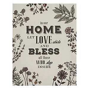 In Our Home Wall Linen Plaque