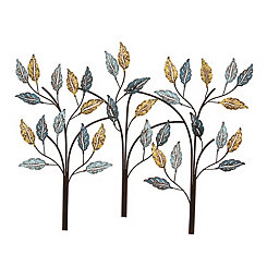 Blooming Tree Metal Wall Plaque