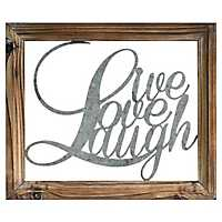 Rustic Live Love Laugh Wall Plaque