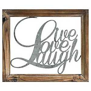 Rustic Live Love Laugh Wall Plaque