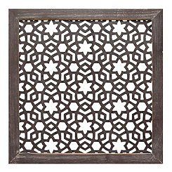Floral Laser Cut Wall Plaque