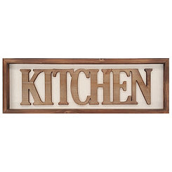 Wood Kitchen Wall Plaque