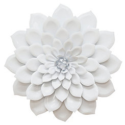 White Layered Flower Wall Plaque