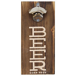 Beer Goes Here Bottle Opener Wall Plaque