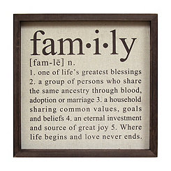 Definition of Family Wall Plaque