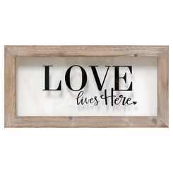 Love Lives Here Wall Plaque