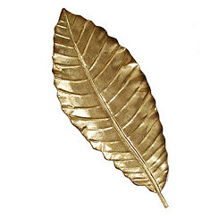 Elegant Leaf Wall Plaque