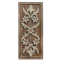 Vintage Floral Wall Plaque