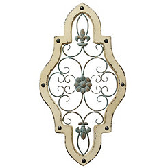 Antique Quatrefoil Wall Plaque