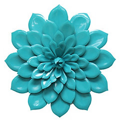 Blue Layered Flower Wall Plaque