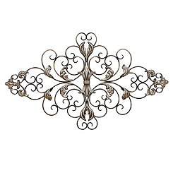Ornate Scroll Wall Plaque
