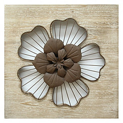 Cream Rustic Flower Wall Plaque