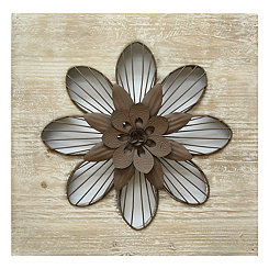 Cutout Rustic Flower Wall Plaque
