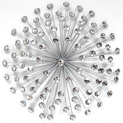 Silver Acrylic Burst Wall Plaque