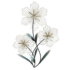Tri-Flower Metal Wall Plaque