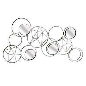 Silver Geometric Circles Wall Plaque