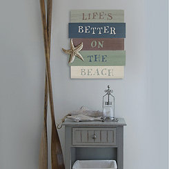 Life's Better on the Beach Wall Plaque