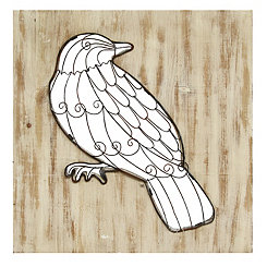 Bird Scroll Cutout Wall Plaque