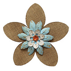 Burlap Flower Wall Plaque