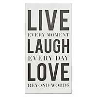 Live Laugh Love Typography Wall Plaque