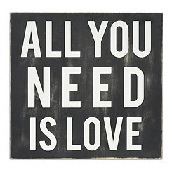 All You Need Is Love Wall Plaque