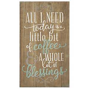 Coffee and Blessings Wall Plaque