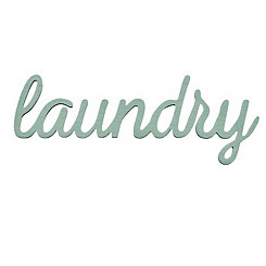 Laundry Script Word Art Plaque