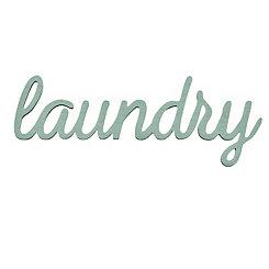 Laundry Script Word Art Plaque