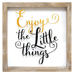Enjoy the Little Things Wall Plaque