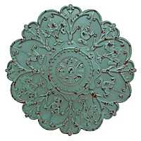 Shabby Chic Medallion Wall Plaque