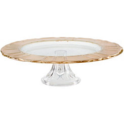 Gold Scalloped Rim Cake Stand